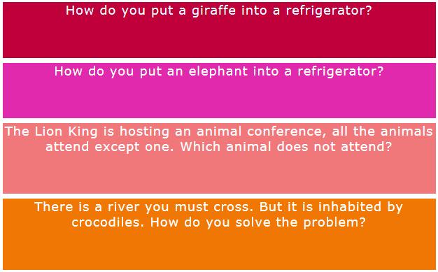 Giraffe | Elephant | Refrigerator — A 2 Minute IQ test!
